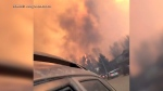 Extended: Man films dramatic flight from wildfire