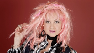 "In this March 14, 2016, photo, Cyndi Lauper poses in Nashville, Tenn., to promote her new country album, ""Detour,"" releasing on Friday, May 6. (AP Photo / Mark Humphrey)"