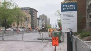 Rene-Levesque roadwork