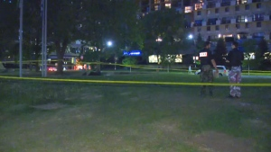Police investigate after a man was attacked at the Longueuil metro station.