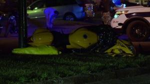 The rider of this Suzuki Hayabusa died in hospital following a crash on May 24, 2016 (CTV Montreal/Cosmo Santamaria)