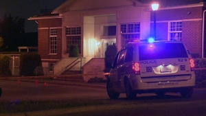 Montreal police say a 23-year-old man was stabbed near this daycare at Harfangs & Poirier in St. Laurent (CTV Montreal/Cosmo Santamaria)