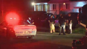 The man was stabbed inside a home in Pointe-aux-Trembles.