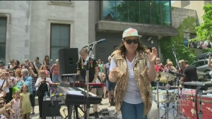 Midday dance party at Montreal Museum of Fine Arts