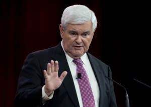 Former House Speaker Newt Gingrich speaks in Oxon Hill, Md. on Feb. 27, 2015. (AP / Carolyn Kaster)