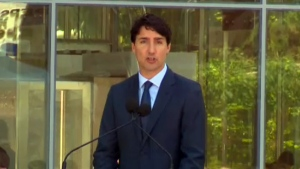 Prime Minister Justin Trudeau was booed when he spoke English in Quebec City on June 24, 2016