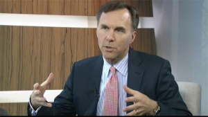 "The costs associated with increasing CPP will be ""very modest and they come in very gradually,"" Finance Minister Bill Morneau said on CTV Question Period, on June 26, 2015."