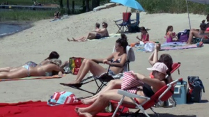 Charron Beach was sparsely attended on June 24, 2016