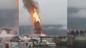 Extended: World's tallest bonfire burns in Norway