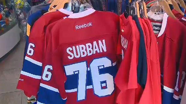 PK Subban jerseys are being sold at half-off
