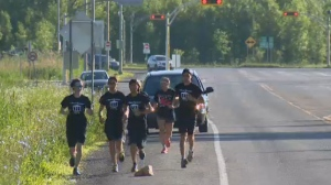 Four John Abbott CEGEP students are hoping to raise $40,000 for the Terry Fox Foundation by running from Montreal to Washington, D.C.