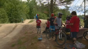 Campers are Dirt Camp learn to mountain bike safely, using all appropriate gear to avoid injuries.