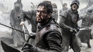 "In this image released by HBO, Kit Harington appears in a scene from ""Game of Thrones."" Helen Sloan/HBO via AP)"