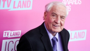 Garry Marshall arrives at the 2016 TV Land Icon Awards at Barker Hangar in Santa Monica, Calif. on April 10, 2016. (Rich Fury / Invision)