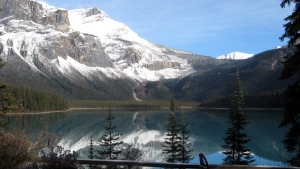 Emerald Lake in Yoho National Park is seen on a calm day in this Oct. 22, 2009 photo. Emerald Lake is open year round and a popular tourist destination. (THE CANADIAN PRESS/Bill Graveland)