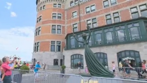 A Salvador Dali sculpture valued at $2.5 million was vandalized outside the Chateau Frontenac.