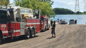Firefighters were called in to retrieve a body found in the St. Lawrence River on Saturday morning.
