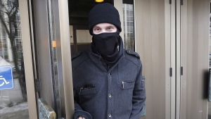 Aaron Driver leaves the Law Courts in Winnipeg, Tuesday, February 2, 2016. Terrorism suspect Aaron Driver was killed in a confrontation with police in the southern Ontario town of Strathroy. THE CANADIAN PRESS/John Woods