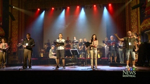 Performers from Quebec's first bilingual version of Les Miserables hold a reunion concert.