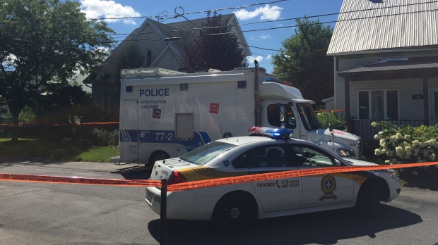 A 41-year-old man was shot and killed after an altercation with two Surete du Quebec officers in the town of St-Cyrille-de-Wendover. (Photo: CTV Montreal/Angela Mackenzie)