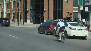 Four cyclists have been struck by vehicles on Montreal's streets since Monday, one of them fatally.