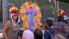 Teachers at Ecole Lajoie in Outremont were seen wearing native headdresses (photo: Jennifer Dorner)