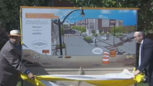 A $10.5 million roadwork project in St. Henri will include widened sidewalks and a bike path along a stretch of Notre-Dame St.