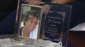 Pictures of Anastasia De Sousa are throughout her family's home