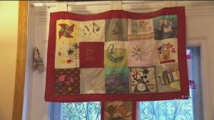 A quilt at Chez Doris