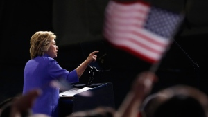 Democratic presidential candidate Hillary Clinton at Riverfront Sports in Scranton, Pa., on Aug. 15, 2016. (Carolyn Kaster / AP)