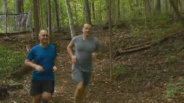 A year ago, Stephane Demers suffered a heart attack while running the Montreal Marathon. This year, with the encouragement of friend, physician and fellow runner Francois de Champlain, he'll be taking part again.