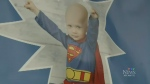 Throughout three-year-old Caleb's fight with cancer, he would dress up as his favourite superhero.