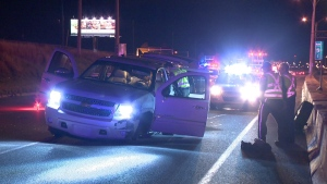 Police chase in Vaudreuil (photo: Cosmo Santamaria/ CTV Montreal)