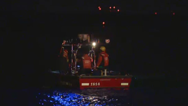 Search operations are underway after a man fell from a boat in Lac-St-Louis early Saturday morning.