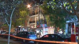 Three buildings were evacuated after a fire broke out in an apartment on Hope Ave. early Saturday morning.