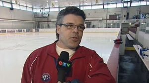 Louis Isabella was coaching the Lakeshore AA Panthers in 2012. (CTV Montreal)