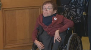 Marie Turcotte has limited mobility and is glad the city of Montreal is improving wheelchair access to the metro system