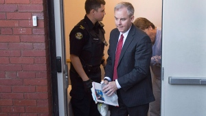 Dennis Oland is taken from the Court of Appeal in Fredericton on Wednesday, Oct. 19, 2016. THE CANADIAN PRESS/Andrew Vaughan