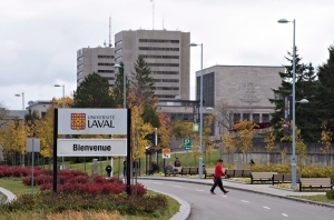 Laval University north entrance in Quebec City on Wednesday, October 19, 2016. (Jacques Boissinot / THE CANADIAN PRESS)