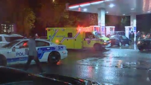 A man was stabbed after a fight broke out in a Plateau gas station early Sunday morning.