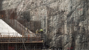 The construction site of the hydroelectric facility at Muskrat Falls, Newfoundland and Labrador is seen on Tuesday, July 14, 2015. THE CANADIAN PRESS/Andrew Vaughan