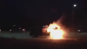 The Damn Truth were driving in Sault Ste. Marie when their van caught fire
