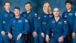 Change of command ceremony on ISS