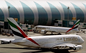 Emirates passenger planes are in use at Dubai airport in United Arab Emirates on May 8, 2014. (AP / Kamran Jebreili)