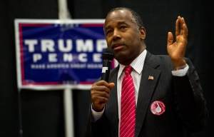 Republican Dr. Ben Carson speaks during a rally for Republican presidential candidate Donald Trump Friday, Nov. 4, 2016, at The Classical Academy in Colorado Springs, Colo. (Christian Murdock / The Gazette via AP)