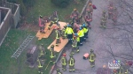 CTV Toronto: Man rescued after falling in sinkhole