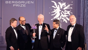 Nicolas Berggruen, Kwame Anthony Appiah, Charles Taylor, Fareed Zakaria and Craig Calhoun at the Berggruen gala in New York on Thursday Dec. 1, 2016.