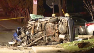 Police said alcohol may have been a factor after a 25-year-old man lost control of his car and crashed into a pole in the town of L'Epiphanie on Sunday morning.