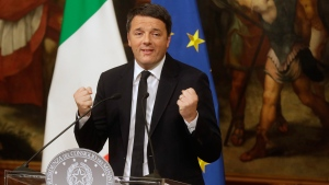 Italian Premier Matteo Renzi at the Chigi Palace in Rome, on Dec. 5, 2016. (Gregorio Borgia / AP)