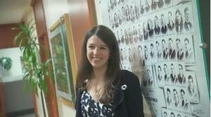 Engineering physics graduate Liane Bernstein is this year's recipient of the White Rose scholarship.